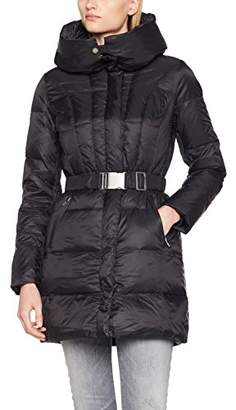 Benetton Women's Jacket with Down Inserts Coat, Black 100, (Size: 46)