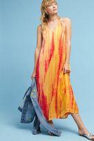 Anthropologie Amias Silk Maxi Dress, Orange