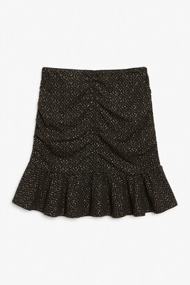 Monki Ruffle hem mini skirt