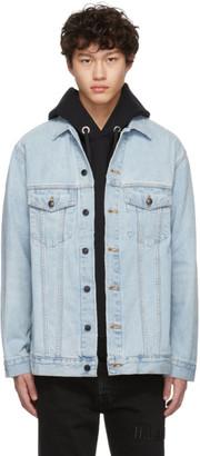 Alexander Wang Blue Denim Bleach Daze Jacket