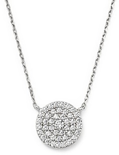 Bloomingdale's Diamond Disc Pendant Necklace in 14K White Gold, 0.50 ct. t.w.