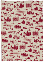 Sur La Table Red Toile Kitchen Towel