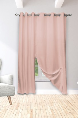 Duck River Textile Isaac Solid Magnetic Magnetic Blackout Curtain Set - Blush