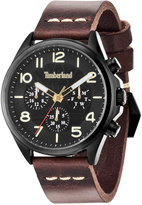 Timberland Men's Blake Brown Leather Strap Watch 46x54mm TBL14844JSB02
