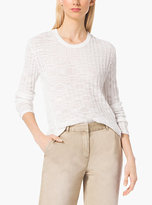 Michael Kors Ribbed Cotton-Blend Sweater