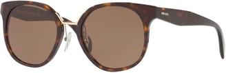 Prada PR 17TS Square Sunglasses, Tortoise