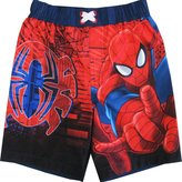 marvels Spiderman Little Toddler Boys Cartoon Character Swimwear Shorts