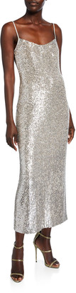 Galvan Glittered V-Back Dress