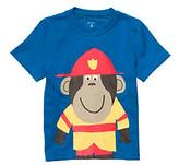 Carter's Baby Boys' Blue Fireman Monkey Tee