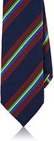 Barneys New York Men's Striped Silk Necktie-NAVY