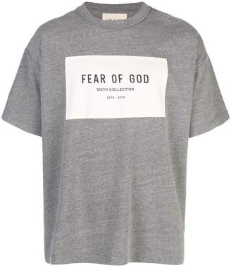 Fear Of God logo print T-shirt