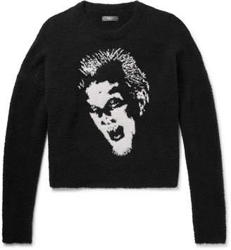 Amiri Intarsia Cotton-Boucle Sweater