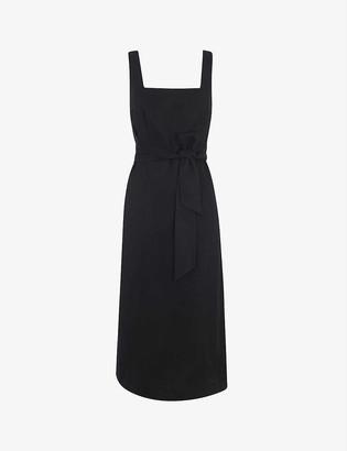 Whistles Clara woven wrap dress