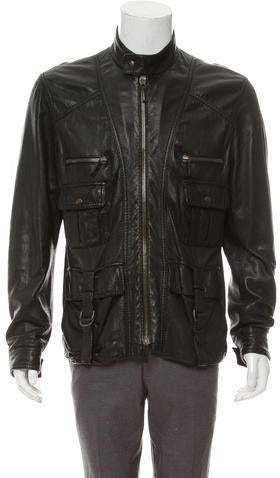 2aaeb1db6136 Mens Leather Gucci Jacket - ShopStyle