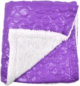 Tadpoles Quilted Nylon Puffer Blanket w/Sherpa Backing- Grape - Grape