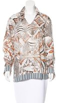 Just Cavalli Abstract Print Long Sleeve Tunic