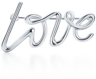 Tiffany & Co. Paloma's Graffiti love brooch in sterling silver