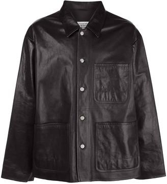 Maison Margiela Leather Shirt Jacket