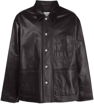 Maison Margiela leather shirt jacket
