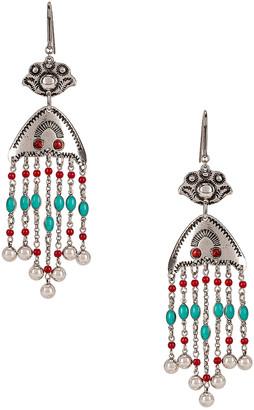 Isabel Marant Besame Chandelier Earrings in Peach | FWRD