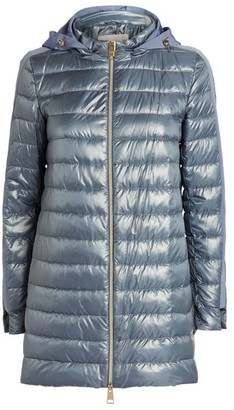Herno Side Stripe A-Line Quilted Coat