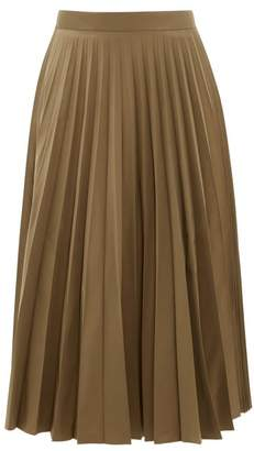 Margaret Howell Sunray Accordion-pleated Faille Midi Skirt - Womens - Khaki