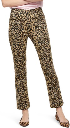 J.Crew Leopard Kickout Crop Pants