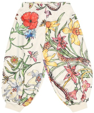 Gucci Kids Flora print jersey trackpants