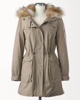 Coldwater Creek Faux fur hooded anorak
