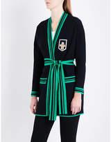 Maje Many embellished cotton and wool-blend cardigan
