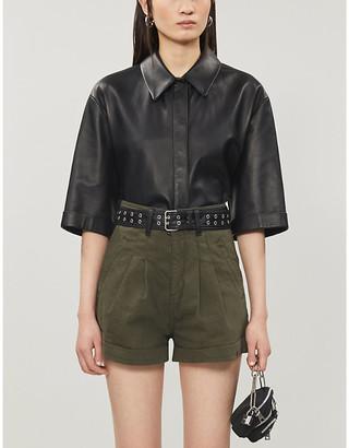 The Kooples High-rise denim shorts