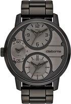 Claiborne Mens Oversized Dial Black Watch