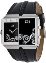 01 The One 01TheOne Men's SD226R1 Slider Analog-Digital Enamel Filling Watch