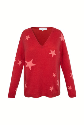 Gerard Darel Enza - V-neck Cashmere Sweater With Star Print