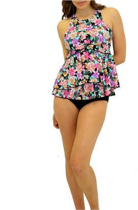 Fit 4 U Love Story Flared High Neck Tankini Women Swimsuit