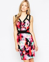 French Connection Miami Graffiti Strappy Dress