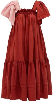 Story mfg. Aida Ruffled Organic-cotton Voile Dress - Womens - Red