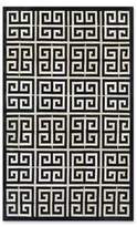 Couristan Chalet Meander 9-Foot 6-Inch x 13-Foot Area Rug in Black/Ivory