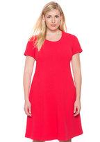 ELOQUII Plus Size Textured Knit A-line Dress