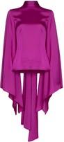 SOLACE London Ali draped wide-sleeve blouse
