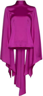 SOLACE London Ali draped wide-sleeve blouse