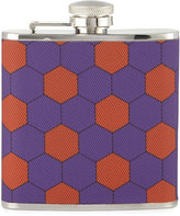 Neiman Marcus Honeycomb-Print Fabric Flask, Purple