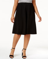 NY Collection Plus Size A-Line Skirt