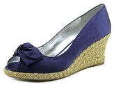 Julie Dee J3001 Open Toe Canvas Wedge Heel.