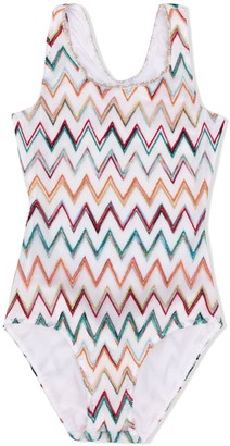 Missoni Kids zig zag print swim suit
