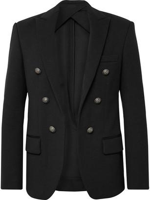 Balmain Black Slim-Fit Woven Blazer