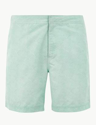 Marks and Spencer Quick Dry Japanese Wave Print Swim Shorts