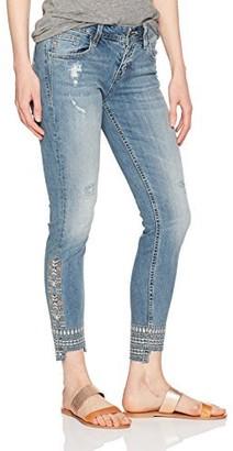 Miss Me Women's Beaded Ankle Denim Skinny Jean