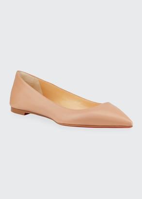 Christian Louboutin Ballalla Point-Toe Red Sole Ballet Flats
