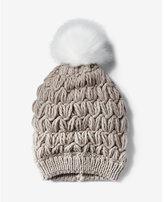 Express cushion knit pom beanie